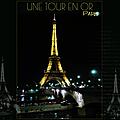 tour Eiffel en or