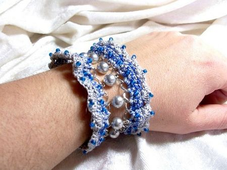 Bracelet Froufrou gris bleu 1