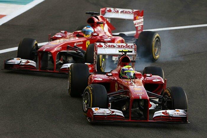 2013-Abu Dhabi-F138-Massa & Alonso