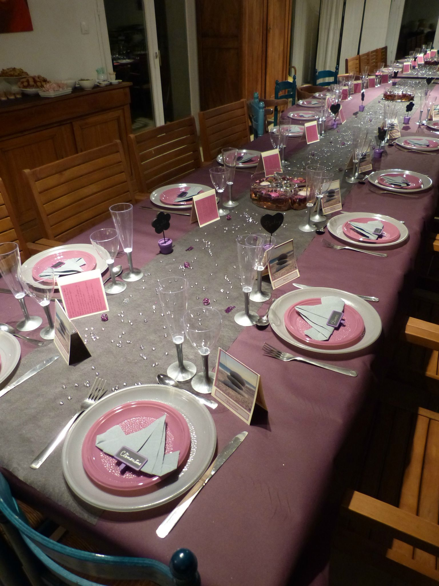 Table pour mes 50 ans v ronique cuisine - Decoration de la table ...