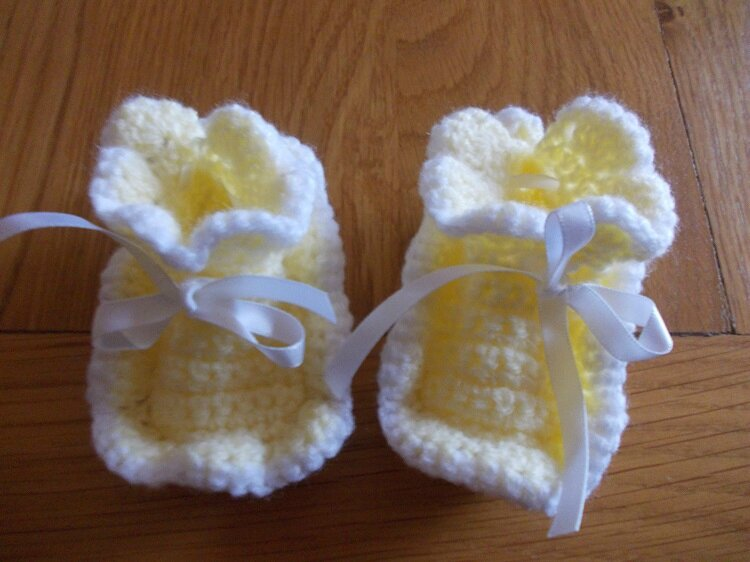 Chaussons fleurs