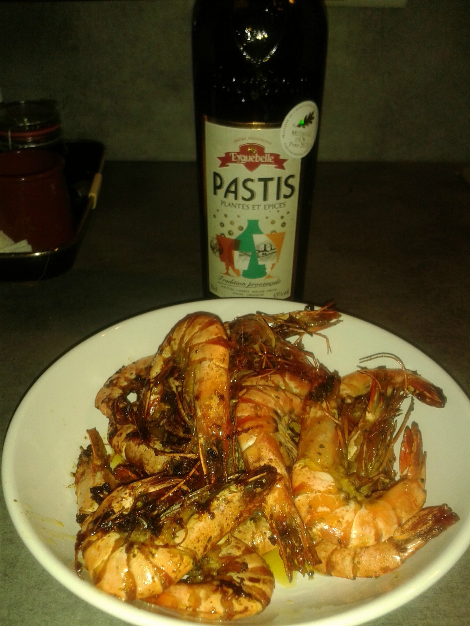 GAMBAS AUX PASTIS EYGUEBELLE