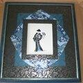 Geisha bleue et noire