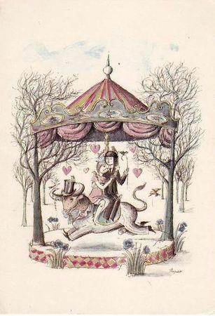 CPM Saint Valentin Zodiaque Peynet