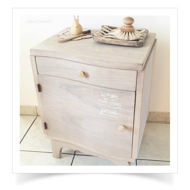 petit chevet vintage aline cerise. Black Bedroom Furniture Sets. Home Design Ideas