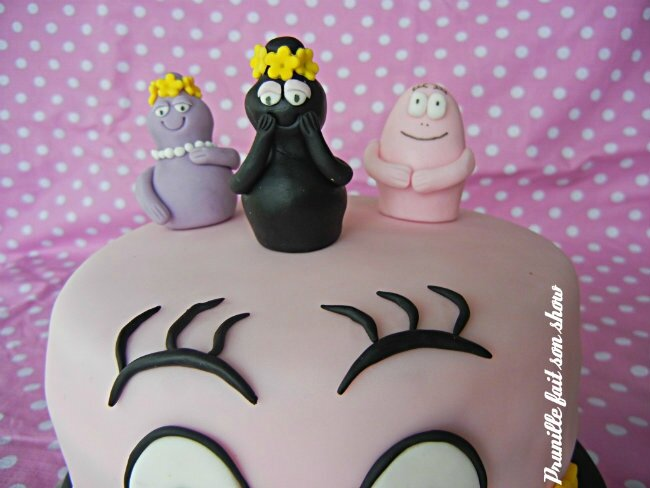 modelages pâte à sucre barbapapa prunillefee