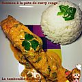 Saumon au curry rouge et lait de coco