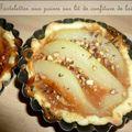 Tartelettes aux poires sur lit de confiture de lait