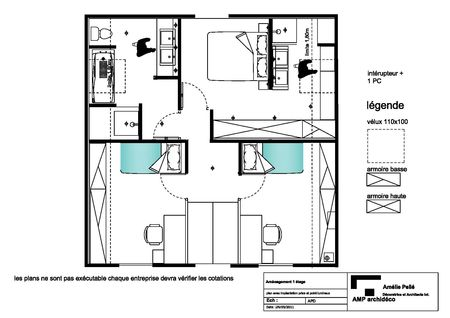 Plans amp archid co am lie pell architecte d 39 int rieur paris 75 78 91 - Plan suite parentale avec salle bain dressing ...