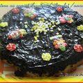 Gâteau au yaourt / poires/chocolat/amandes