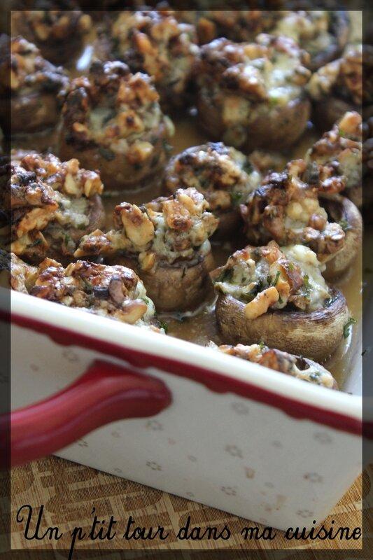 Champignons farcis noix bleu2