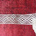 2053 entredeux dentelle ancienne 4m50 x 3 cm