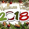 Meilleurs vœux pour 2018.