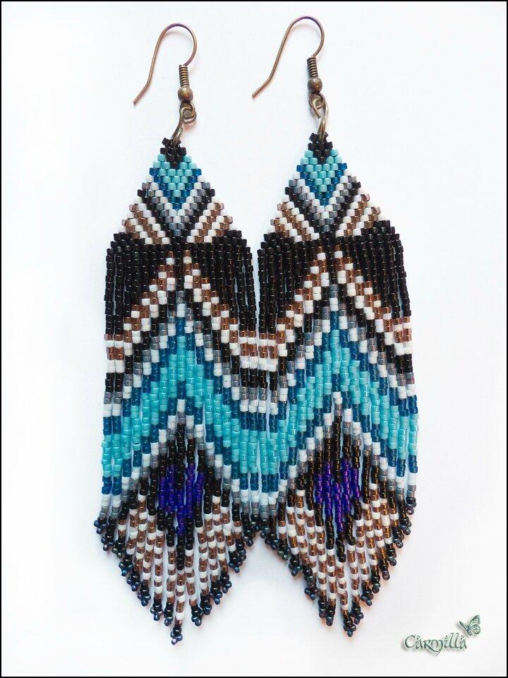 Boucles d'Oreilles Native vu sur Wild Mint Jewelry