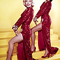 Red sequined showgirl gown of two little girls number