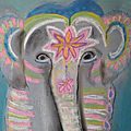Éléphants multicolores
