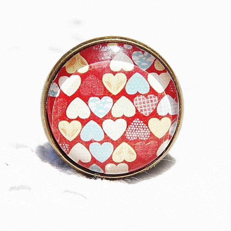 lisa 8 bague cabochon coeur rouge blanc bijoux colorés @ louise indigo (3)