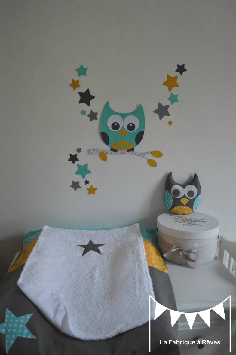 d coration chambre enfant mixte turquoise jaune moutarde. Black Bedroom Furniture Sets. Home Design Ideas
