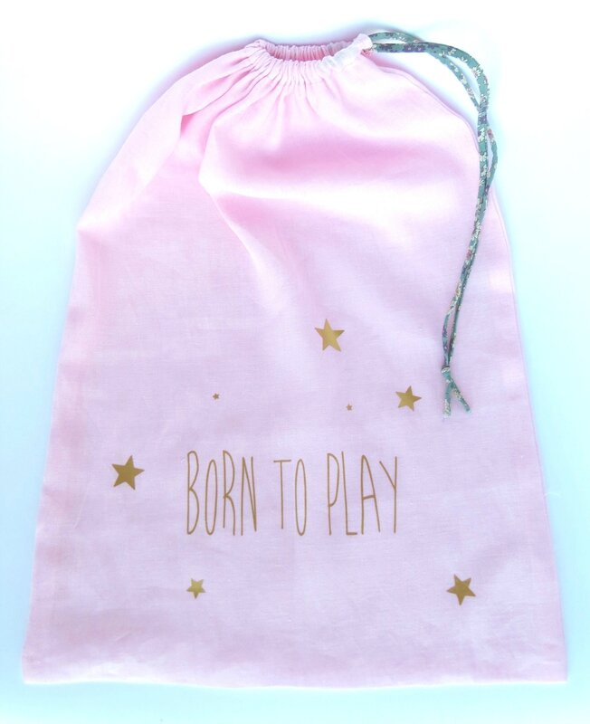 Big sac en lin rose _Born to play_