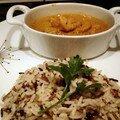 Cassolette de poissons et crevettes à la sauce américaine