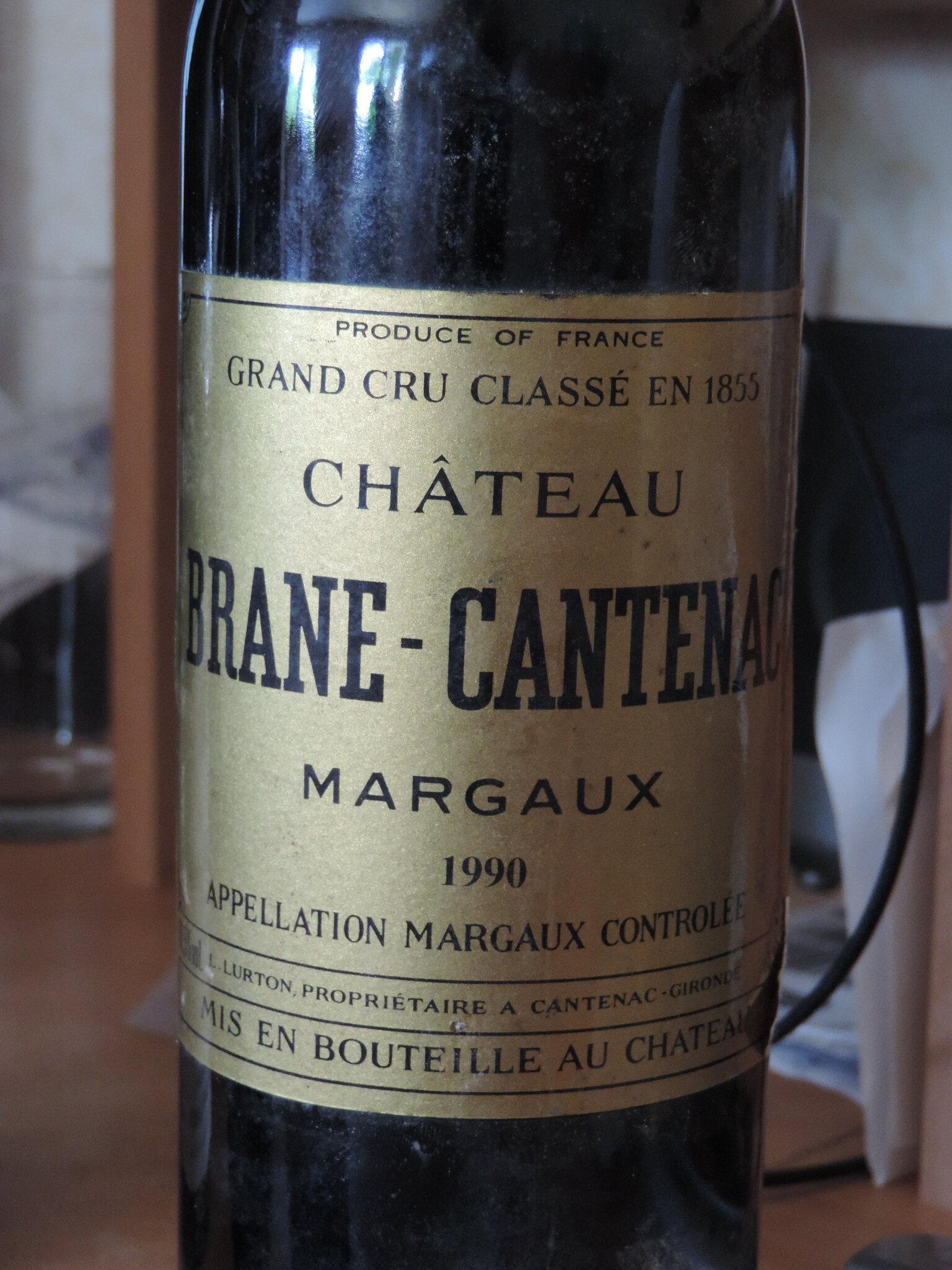 chateau Brane-Cantenac 1990 margaux 2nd cru classé