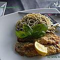 Escalopes de veau parmigiana, sans gluten