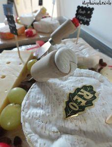 décorer un plateau de fromage, faire des fromages miniatures