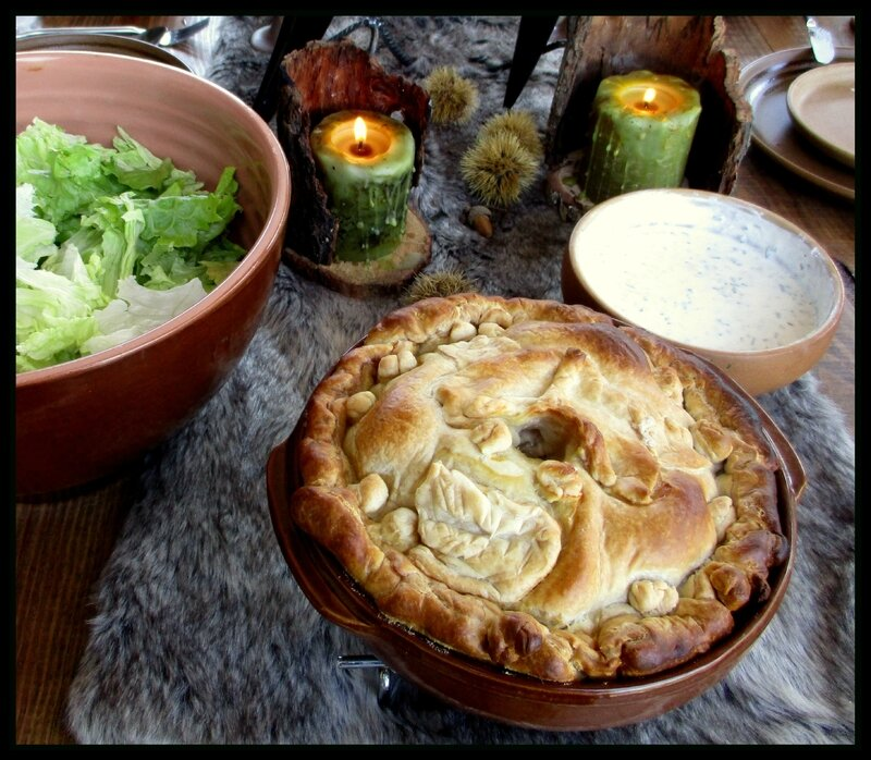 tourte salade fromage aux herbes