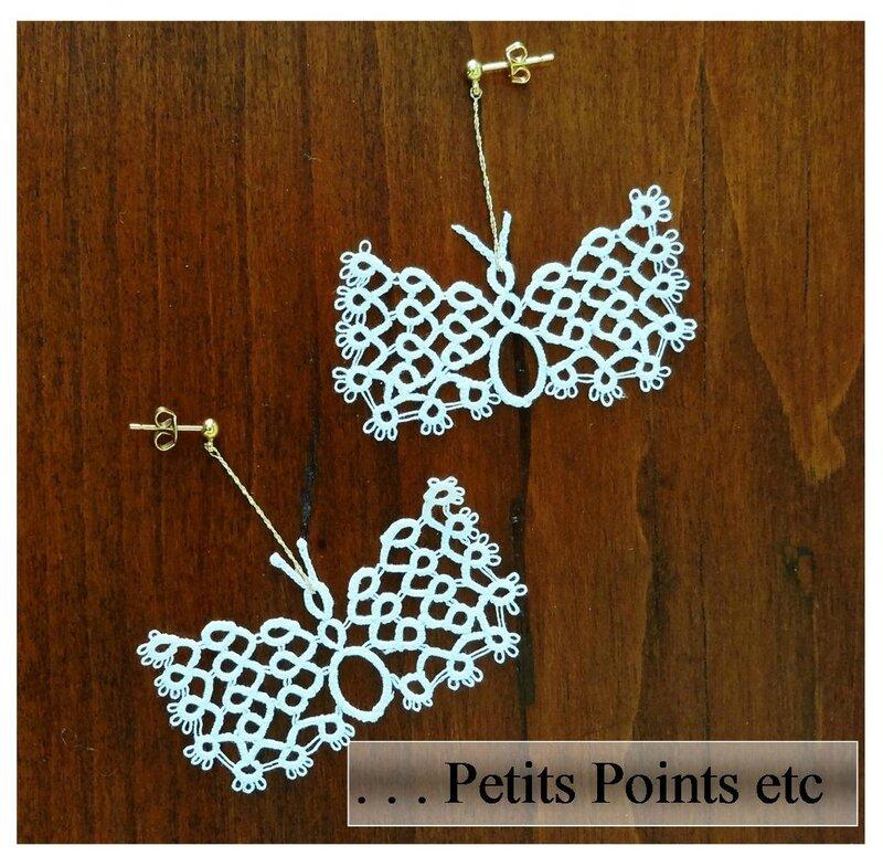 8 Boucles d'oreilles papillon