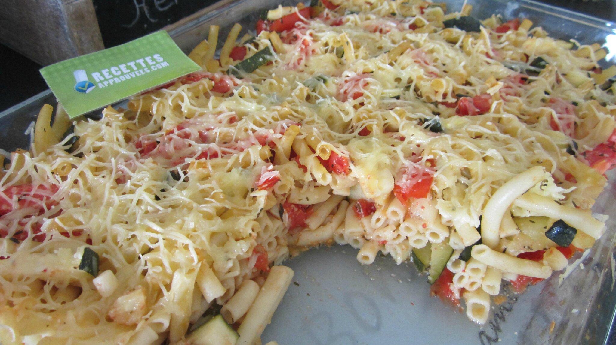 gratin v 233 g 233 tarien de macaronis tomates courgettes choutambouilletout