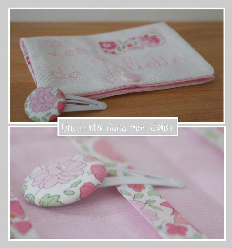 pochette pour ranger les barrettes-Personnalisée-Liberty danjo rose