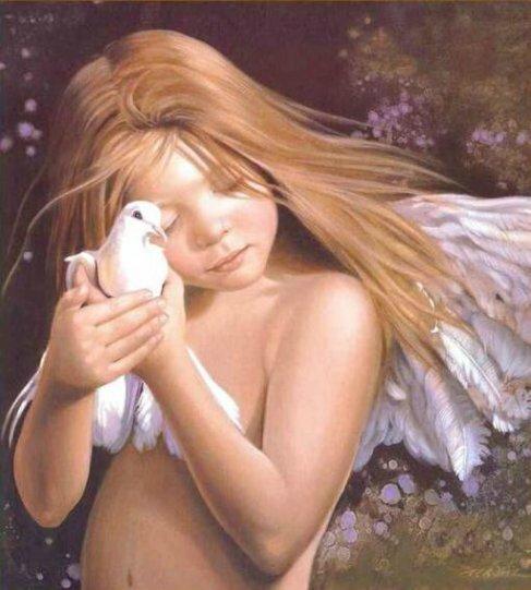 ange et tourterelle