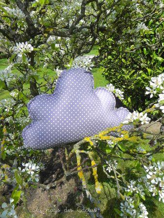 Coussin nuage étoiles gris Mimi Factory Au pays des Cactus 2