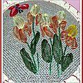 Boîite dessus brodé rubans taffetas Iris et papillons 2