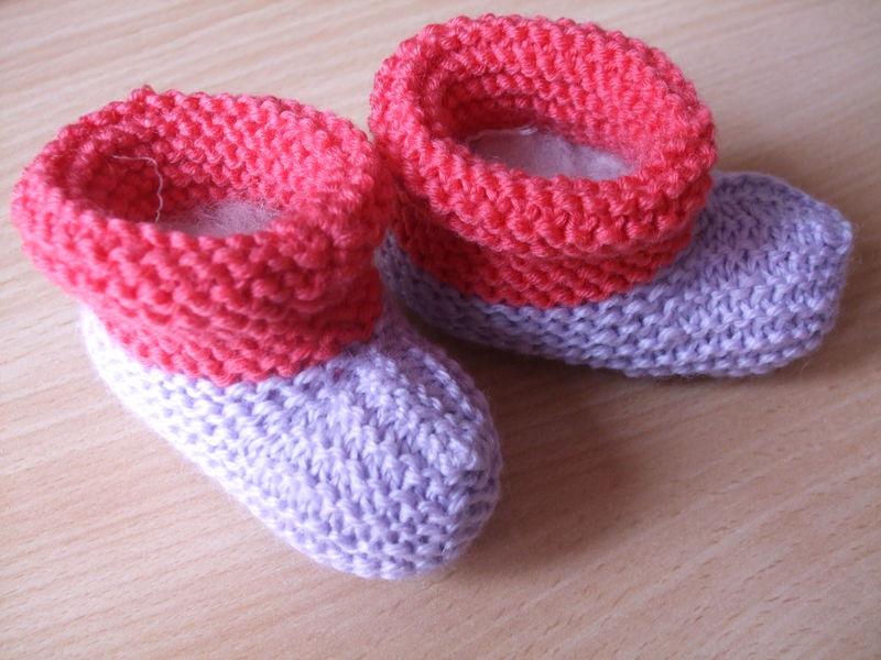 apprendre a tricoter des chaussons pour bebe