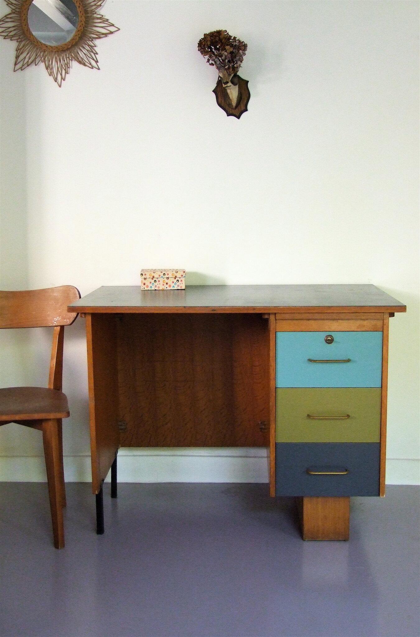 Bureau vintage lo s meubles vintage pataluna chin s for Meuble bureau 24