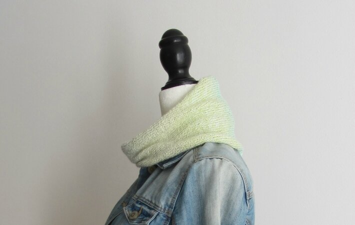 snood dégradé jaune 3