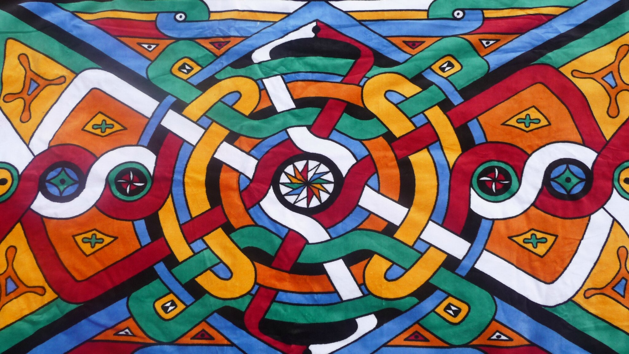 Serviette - motifs amérindiens