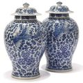 A collection of Chinese blue and white at Chrostoe's Interiors