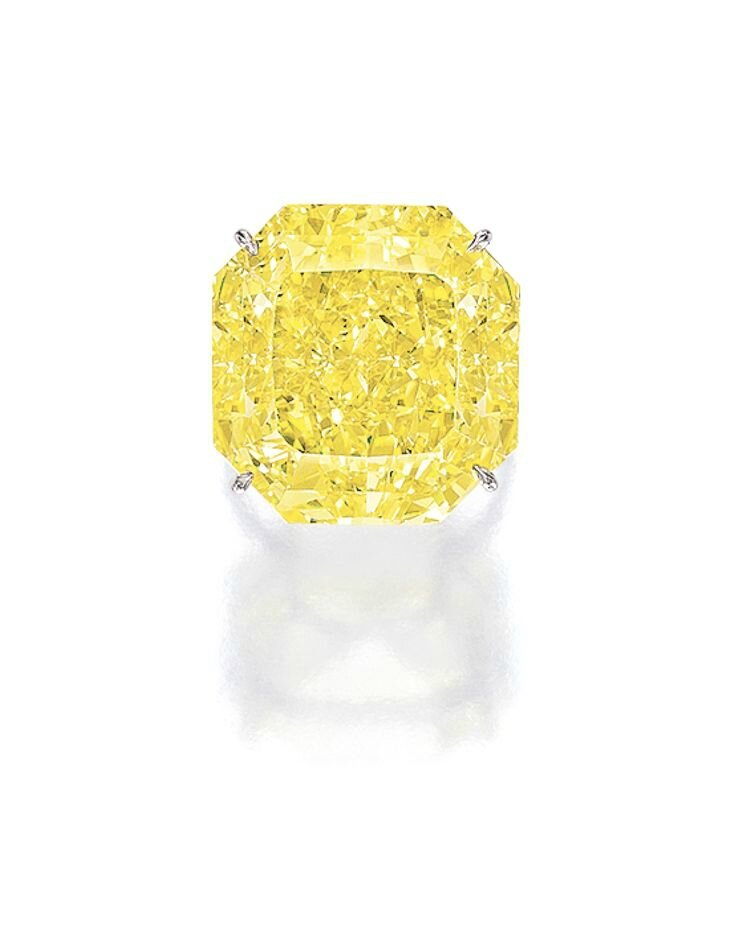 Impressive Fancy Vivid Yellow Diamond Ring
