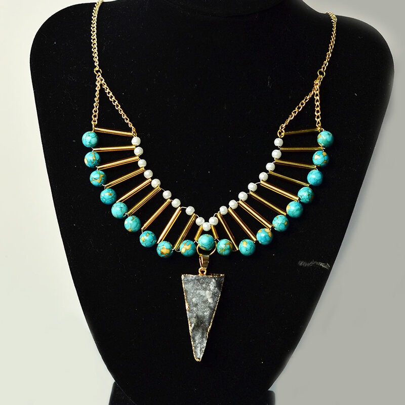 Turquoise_and_Bugle_beads_Statement_Necklace_5