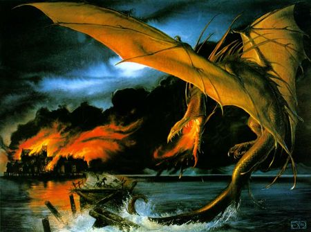 John_Howe___The_Death_of_Smaug