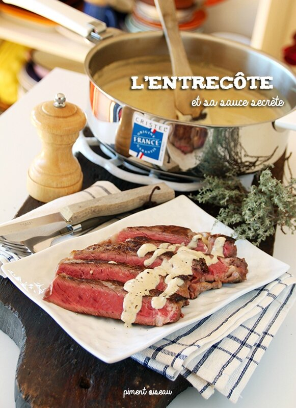 l'entrecôte sauce secrète - rib eye steak & its secret sauce