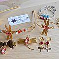 Bijoux vintage libellules et cabochons Swarovski - Bijoux mariage, cortège ou à porter tous les jours. Collection bijoux intemporels.