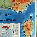 Collection ... carte cotes mediterranee / hydrographie france