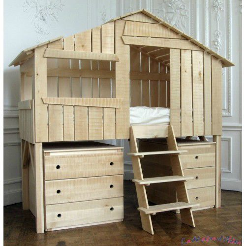 le lit cabane scrap a gogo. Black Bedroom Furniture Sets. Home Design Ideas