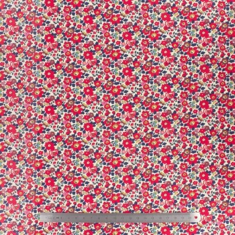 Tissu LIBERTY Betsy Anne Rouge