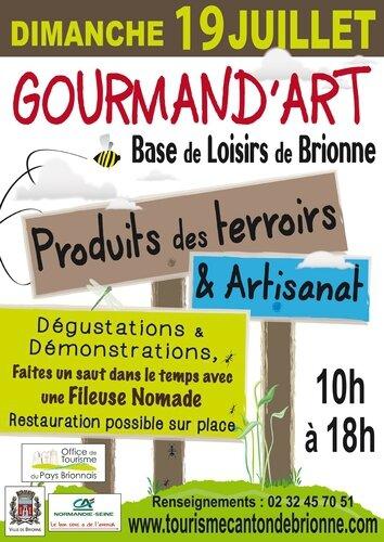 Salon Gourmand'Art de Brionne (27) : dimanche 19 juillet 2015...