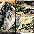 Filets de maquereau marinés et riz au fenouil citronné