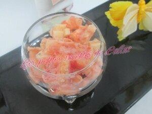 Salade de crevettes et pamplemousse, sauce rose20